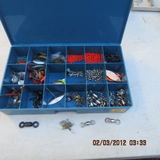 TROPHY LARGE ACCESORY BOX FULL LURES PARTS BAIT FISHING TACKLE BAIT
