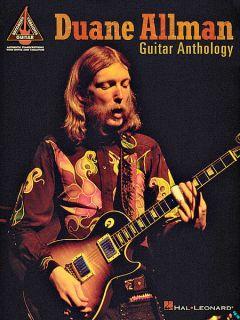 Duane Allman Guitar Anthology Guitar Tab Song Book