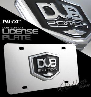 Dub 3D License Plate GMC Acadia Suburban Yukon Denali
