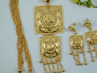 Unique Dubai Style East India Set 24K 22K Gold GP Thai Necklace