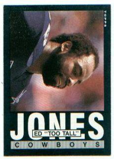1985 Topps Card 46 Ed Too Tall Jones de Cowboys