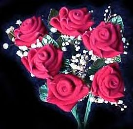 dozen RED SUEDE LEATHER ROSES! Handcrafted. Beautiful!
