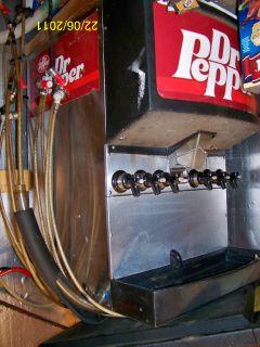 Older Model Dr Pepper Soda Fountain Drink Dispenser with 6 heads