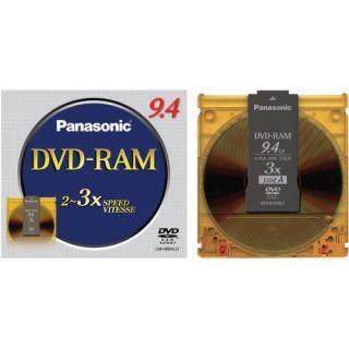 Panasonic DVD RAM 9 4GB Data Double Sided Double 5 PK