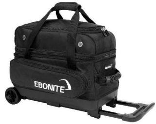 Ebonite 2 Ball Roller Bowling Bag with Wheels Black