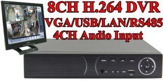 CCTV 8CH DVR Standalone H 264 Real Time Network DVR Surveillance