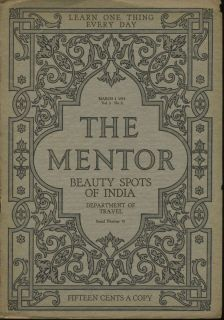 BEAUTY SPOTS OF INDIA by Dwight L Elmendorf THE MENTOR Magazine March