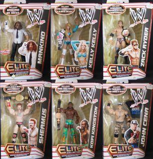 Complete Set of 6 WWE Elite 17 Mattel Toy Wrestling Action Figures