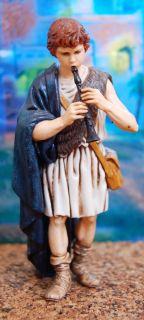 Stupenda statuetta di una vecchietta con bastone della serie di cm 13