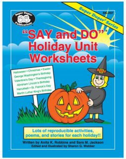 Super Duper Say and Do Holiday Unit Worksheets Educational Book