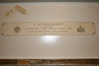 Antique Duvelleroy Ostrich Feather Mother of Pearl Original Box Fan