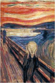 Edvard Munch The Scream Counted Cross Stitch Pattern