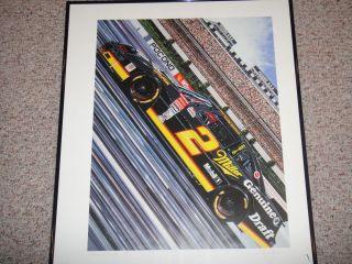 NASCAR Miller Genuine Draft MGD Rusty Wallace Sam Bass Ed Print