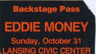 Eddie Money 1982 Wheres The Party Tour Backstage Pass