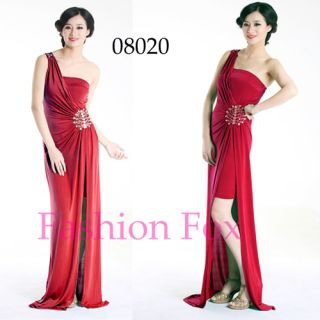Style One Shoulder Red Evening Dresses Long Prom Gown 08020 SZ 16