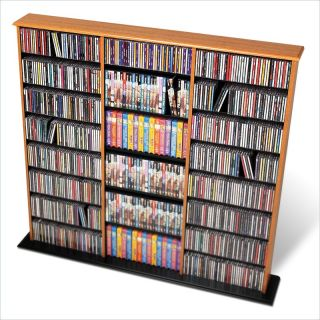 Prepac Triple Width Wall Tower CD DVD Media Storage
