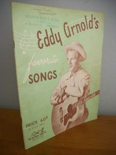 Eddy Arnolds Favorite Songs 1948 Illustrated