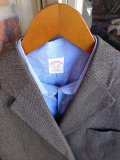 Joseph A Bank 3 Btn Gray Wool Mens Blazer Jacket Sport Suit Coat 46R
