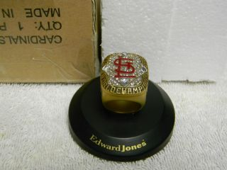 Louis Cardinals 2006 World Series Replica Ring SGA Edward Jones