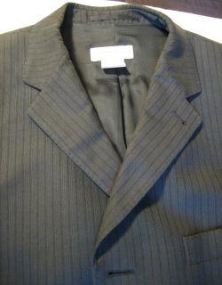 Dries Van NOTEN Blazer Sports Coat Black w Grey Lines 3 Button RARE