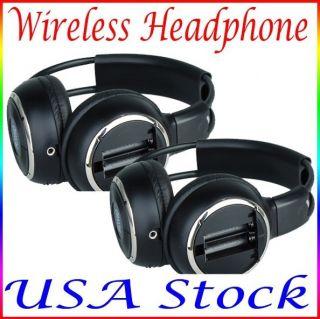 2X Wireless Headphones Car Pillow Headrest DVD Player IR US Stock Fast