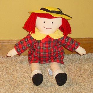 Eden Sweet Madeline Plaid Dress 16 Soft Plush Rag Doll Yellow Hat