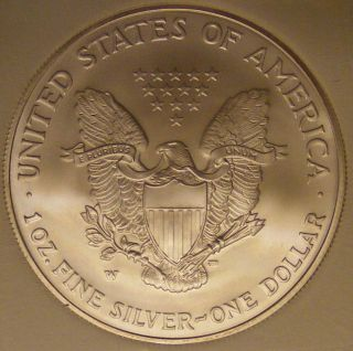 2006 w Silver Eagle with w Mint Mark Gem UNC Perfect