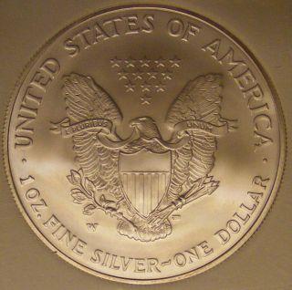 2006 w Silver Eagle with w Mint Mark Gem UNC Perfect