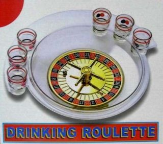 Roulette Wheel Drinking Game Party Casino Shot Glass