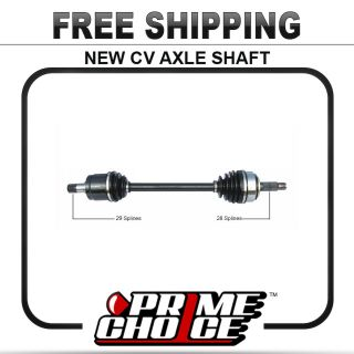 New Complete CV Joint Axle Shaft Assembly for Front Left Driver Side