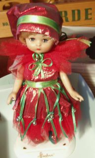 Effanbee Doll Christmas Fairy DOLL WITH STAND IN BOX 9 VINYL