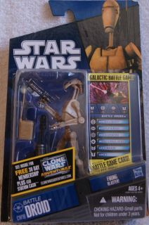 NEW STAR WARS BATTLE DROID ACTION FIGURE THE CLONE WARS CW19 W/ FIRING