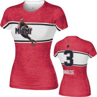 Dwyane Wade Miami Heat Womens Big Stripe Player T Shirt Home