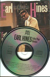 Earl Hines Fatha Plays Classics Jazz Used CD