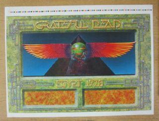 Grateful Dead Egypt 1978 Concert Poster Uncut Proof Sheet Original