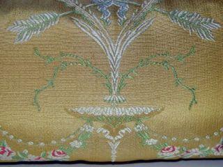 Scalamandre Palazzo Pallavicini Silk Lampas Lumbar Pillow