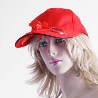 Summer Solar Sun Power Sport Outdoor Hat Cap Cool Fan for Golf