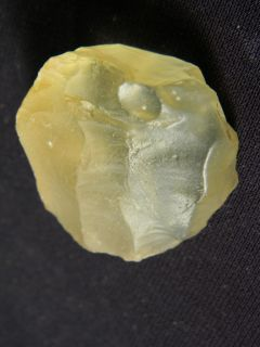 Translucent Libyan Desert Glass Blade Core Tool Found in Egypt