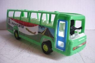 Mexican Passenger Bus Mexicana Plastic Toy Car Truck Made in Mexico