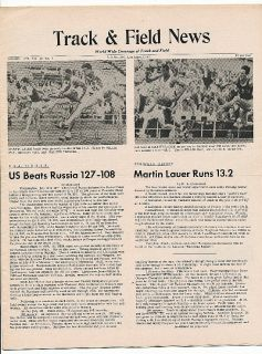 1959 Track Field News World Record Martin Lauer 13 2