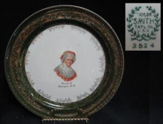 Taylor Smith Taylor USA Martha Washington DC Souvenir Plate
