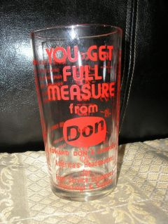 Measuring Glass Cup Advertising Edward Don & Co EXCELLENT 1 Cup Red