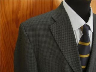 Haggar Sharp Blue Threee Button Blazer Sport Coat Suit Jacket 40R