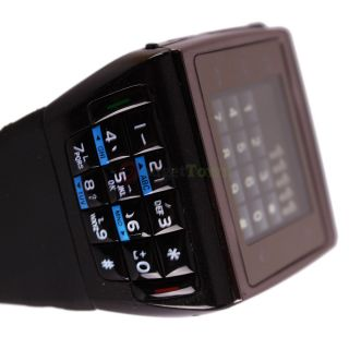 New Black Dual Sim Watch Mobile Cell Phone  MP4 GSM