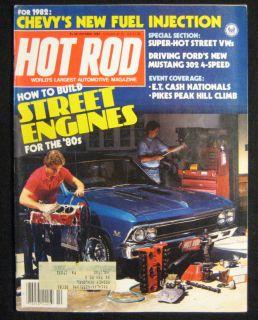 Hot Rod Magazine October 1981 302 Mustang 4 Speed