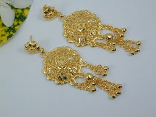 Beautiful Dubai Design East India Set 24K 22K Gold GP Thai Necklace