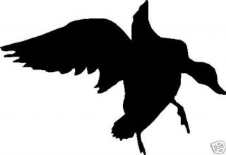 "Silhouette Landing Duck Hunting Decal 7"" x 5"""