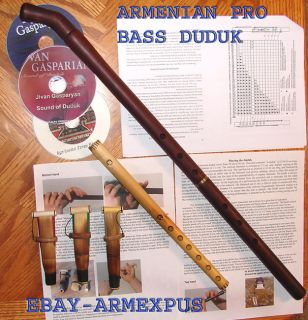 Pro Bass Duduk Dudek Armenian 3 Reeds CD Case Flute Video Armenia Oboe