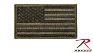 OD / BLACK AMERICAN FLAG PATCH WITH HOOK AND LOOP
