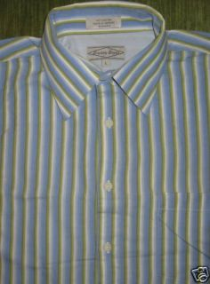 Eighty Eight Dress Shirt Baby Blue Green L s Mens L